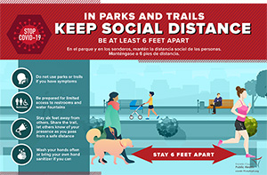 Park Social Distancing Sign