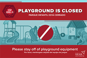 Playground is Closed Sign