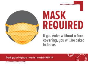 Do Not Enter If Sick sign for Restaurants