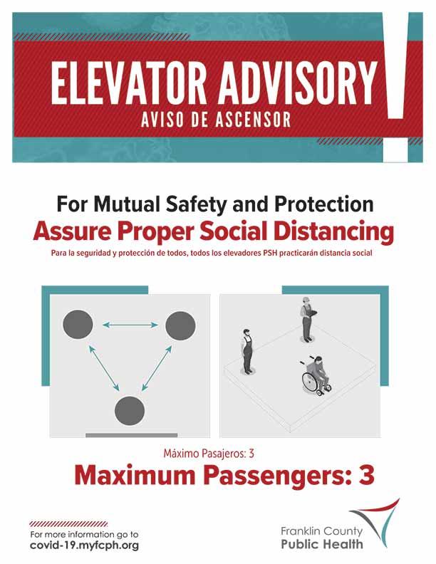 Elevator Advisory Signage