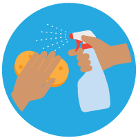 Clean and disinfect icon