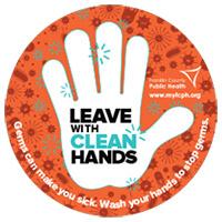 Handwashing Door Sticker for Kids
