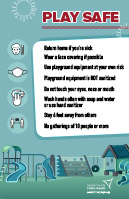 Play Safe Playground Flier - English