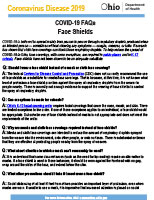 ODH Face Shield Information
