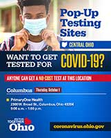 Central Ohio Pop-Up COVID-19 Testing Sites
