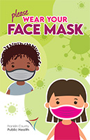 Face mask poster for kids