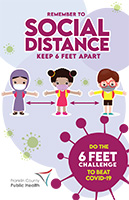 Social distancing poster for kids