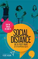Social distancing poster for teens