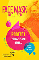 Face mask poster for teens